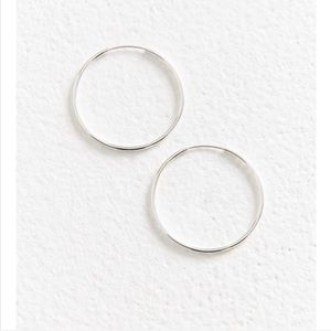 Urban 14k gold sterling silver plated hoop earring